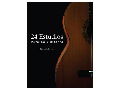"Book Cover Designed for ""24 Estudios Para La Guitarra"""