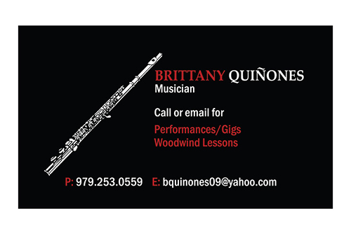 Brittany Quiñones Business Card