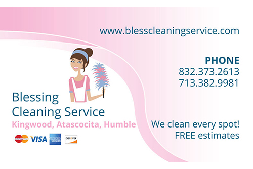 Blessing Cleaning Service Business Card